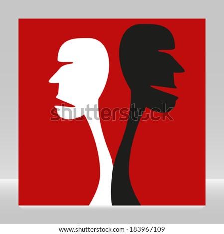 Disagreement.  - stock vector