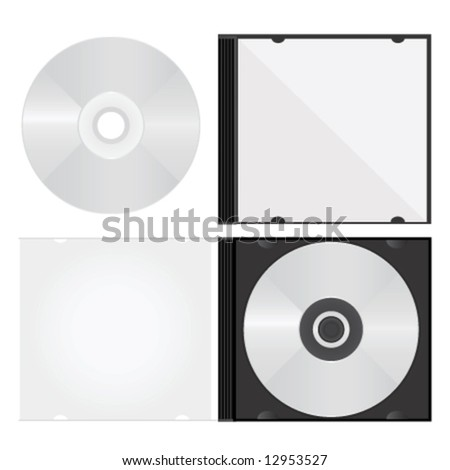 disc and box vector - stock vector