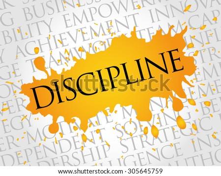 DISCIPLINE word cloud, business concept - stock vector
