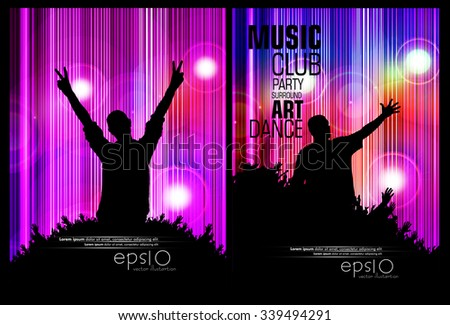 Disco background for poster or banner, vector - stock vector