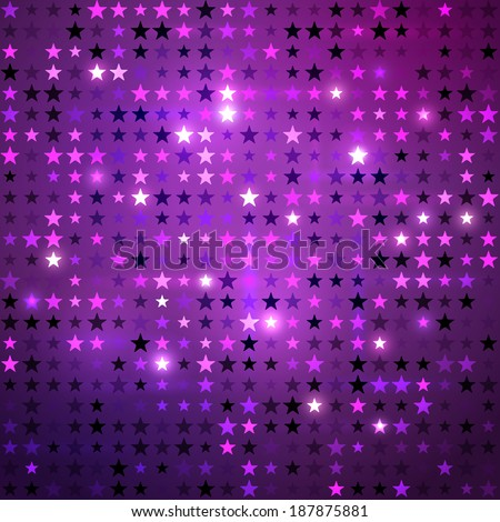 Disco background with stars. Vector EPS10. - stock vector