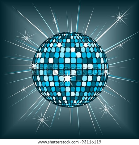 Disco ball - stock vector