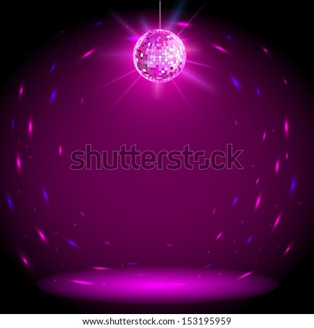 Disco ball background - stock vector