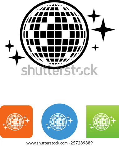 Disco Ball symbol for download. Vector icons for video, mobile apps, Web sites and print projects.  - stock vector