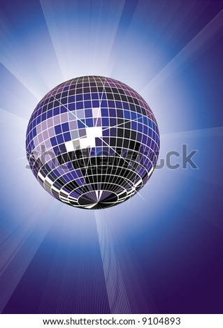 Disco ball, vactor illustration, EPS file included - stock vector