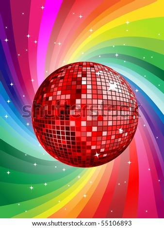 disco ball vector illustration - stock vector
