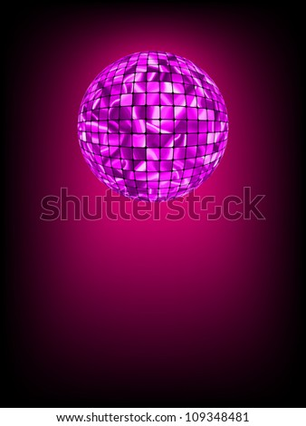 Disco ball with glow in haze. EPS 8 vector file included