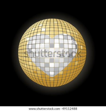 Disco-ball with heart symbol