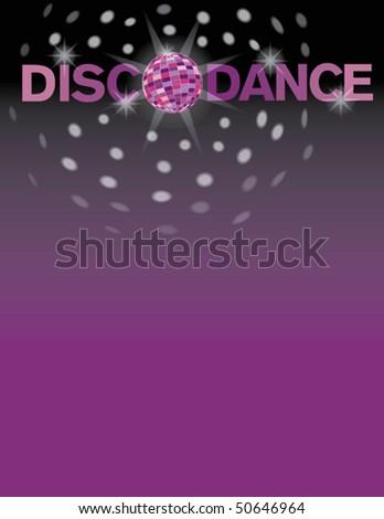 Disco dance background. - stock vector