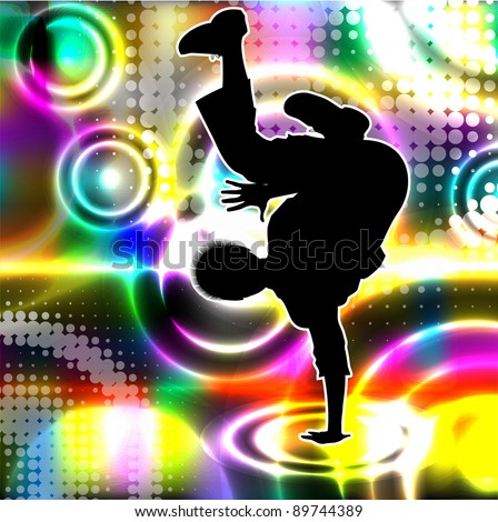 Disco dancer. Vector eps10 illustration. - stock vector