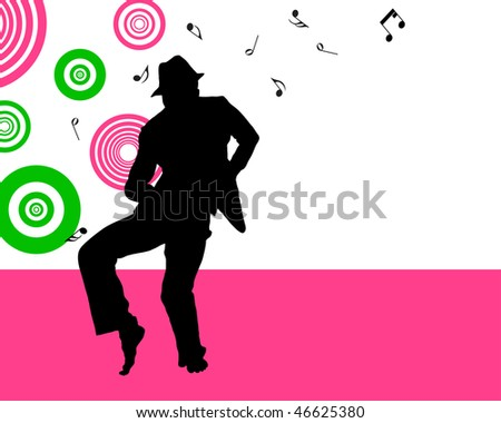 Disco dancer. Vector illustration for design use.