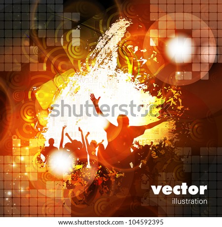 Disco event background - stock vector