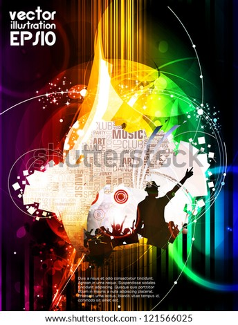 Disco event background - stock vector