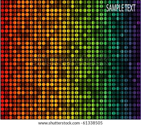 disco light dots - stock vector