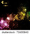 disco light dots pattern on dark background , Vector illustration - stock photo