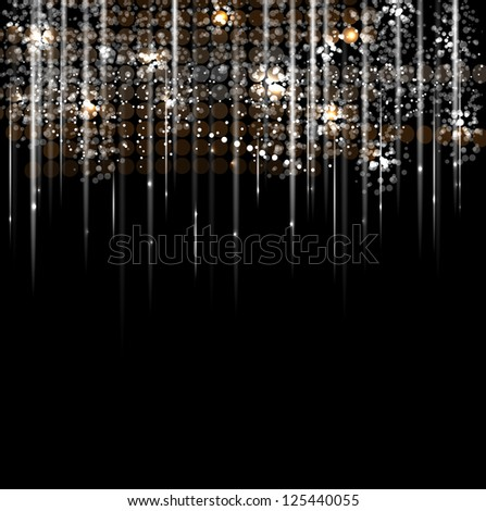 disco light rain stars abstract dance background - stock vector