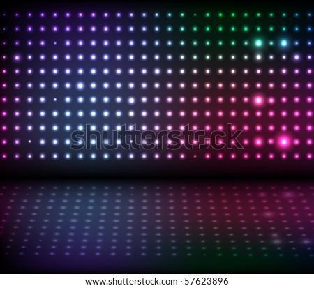 Disco Lights - stock vector
