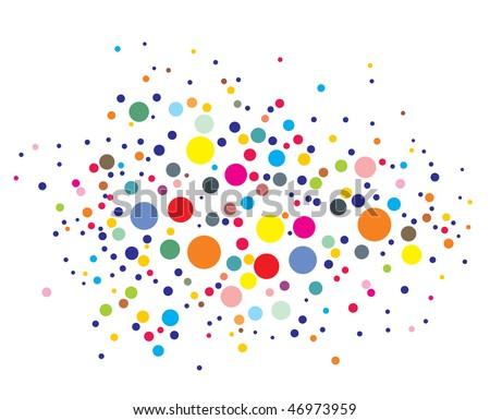 disco lights dots pattern on black background, Vector illustration - stock vector