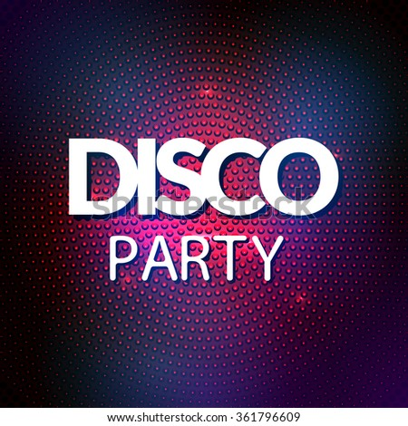 Disco lights mosaic round background. Vector colorful disco party lights - stock vector