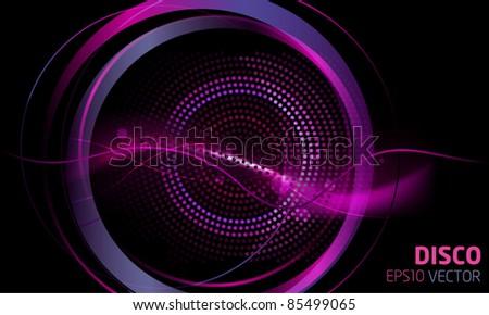 Disco lights theme vector - stock vector