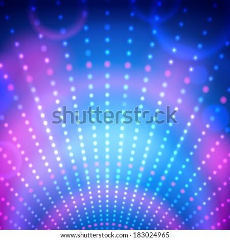 Disco lights. Vector illustration. - stock vector