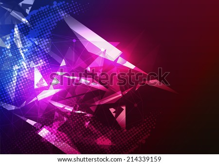 Disco Party Poster Background Template - Vector Illustration - stock vector