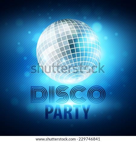 Disco party. Vector illustration - stock vector