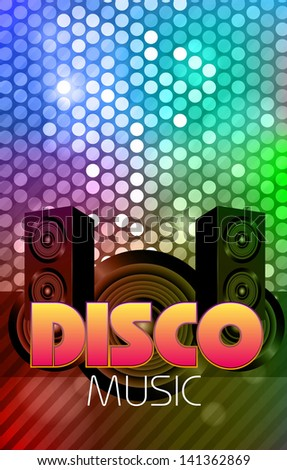 Disco poster. Abstract background - stock vector