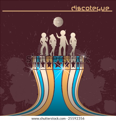 Discotheque background or flyer - stock vector