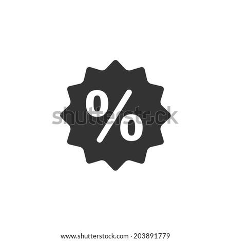 Discount badge icon - stock vector