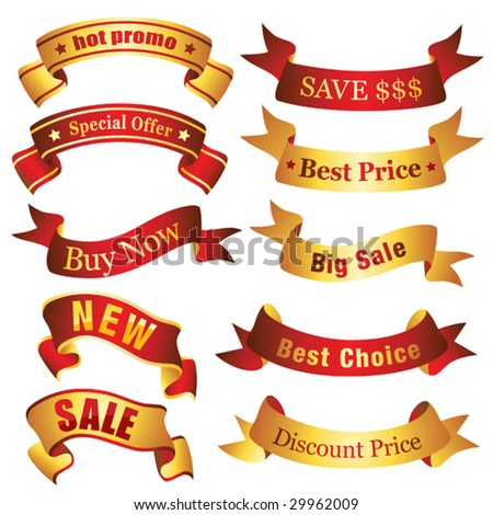 Discount banners Visit my portfolio for similar images. - stock vector