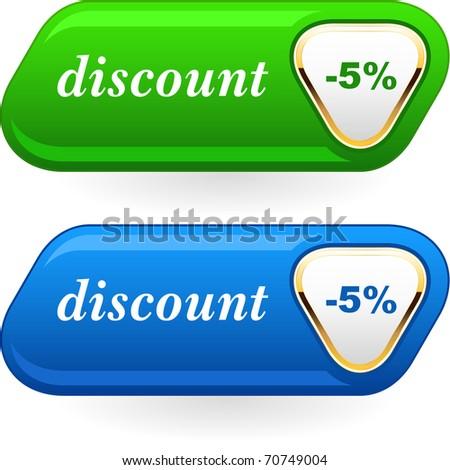 Discount button templates. Vector illustration. - stock vector