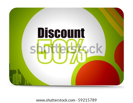 Discount card templates, vector illustration. - stock vector