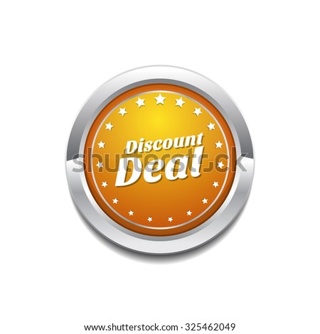 Discount Deal Yellow Vector Icon Button