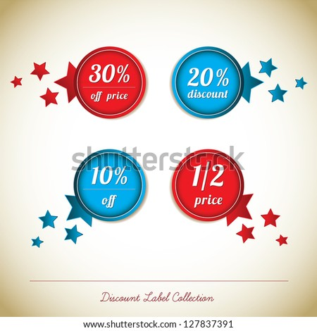 Discount Label Collection - stock vector
