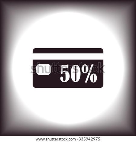 Discount label. icon. vector design - stock vector