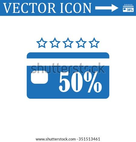 Discount label icon, vector illustration. Modern design. Flat design style - stock vector