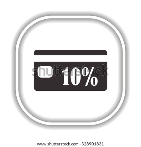 Discount label.  Modern design flat style icon - stock vector