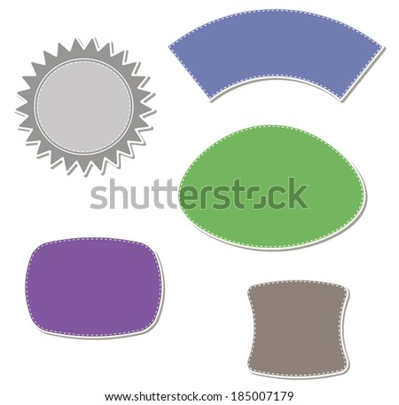 Discount labels - stock vector