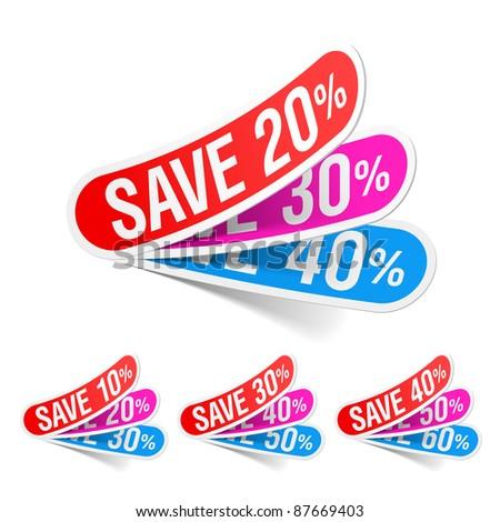 Discount labels. Vector. - stock vector