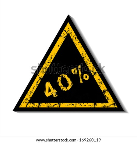Discount notification designed in black and yellow. Business illustration on white background