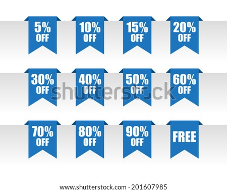 Discount paper tag labels