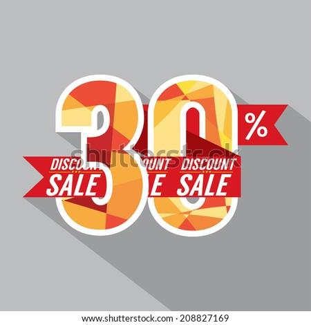 Discount 30 Percent Off Vector Illustration - stock vector
