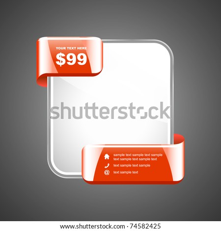 Discount sale banner for web site. Vector promo tag. - stock vector