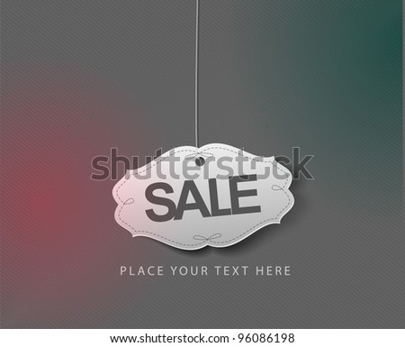 Discount sale labels, vector design.