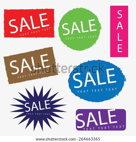Discount Signs - stock vector