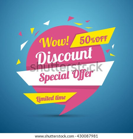 Discount sticker special offer vector isolated price label advertisement tag sale poster