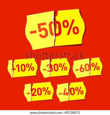Discount. Vector. - stock vector