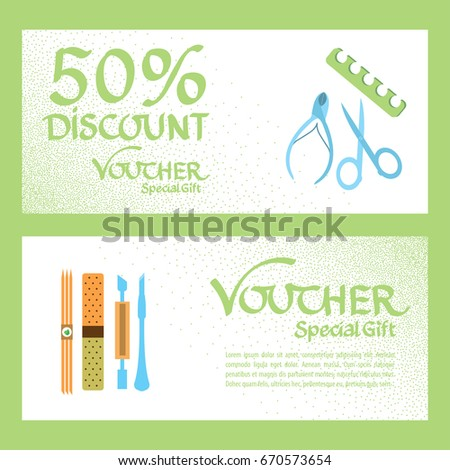 Discount voucher template certificate coupon manicure stock vector discount voucher template certificate coupon manicure stock vector 670573654 shutterstock saigontimesfo