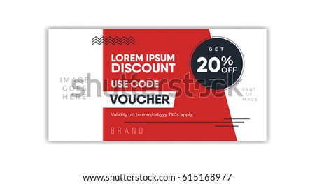discount voucher template coupon design ticket stock vector